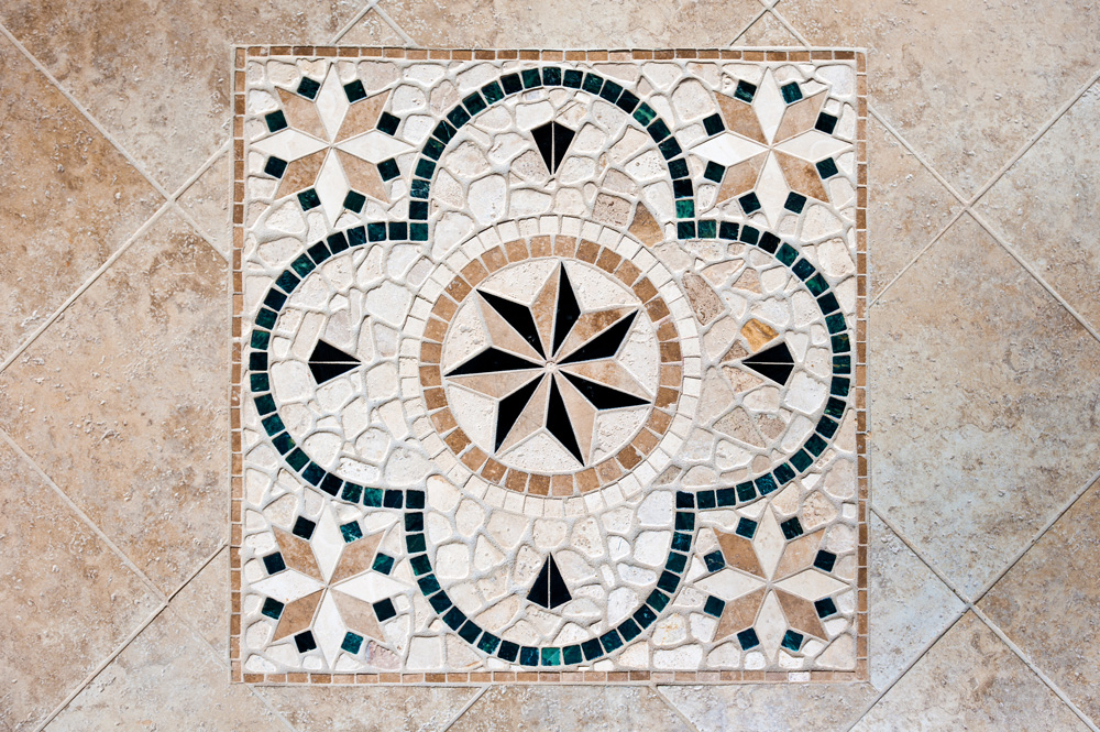 craftsman style homes tile mosaic