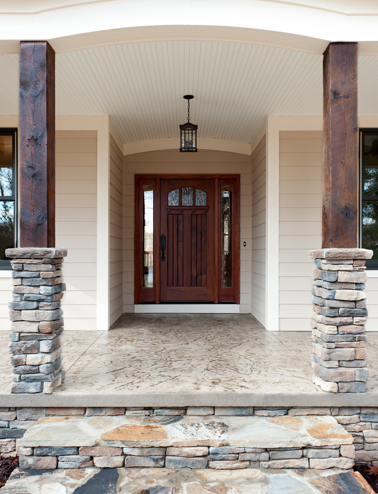 craftsman style homes front porch entrance view