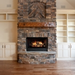 craftsman style homes great room fireplace