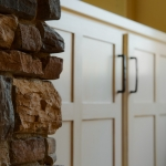 craftsman style homes stone and cabinetry