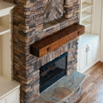 craftsman style homes fireplace view
