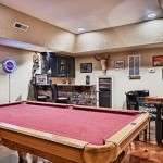custom built homes finished basement & kitchen