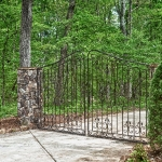 custom built homes driveway gate entrance