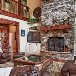 custom built homes great room fireplace