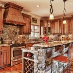 custom built homes kitchen