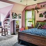 custom built homes girls bedroom