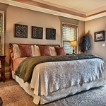 custom built estate homes master bedroom