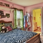 custom built homes girls bedroom with bath