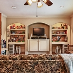 custom built homes kids bonus room cabinetry
