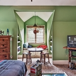 custom built homes kids boys room with dormer