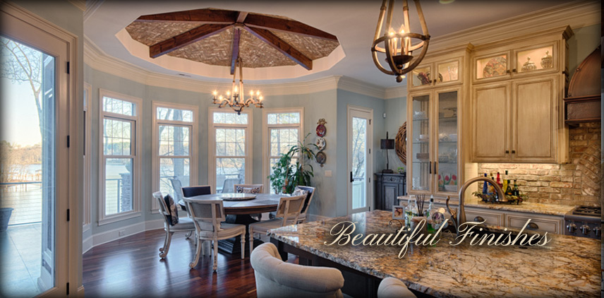 A custom home is incomplete without a custom finish. Add your choice finishing touches or let us choose for you.