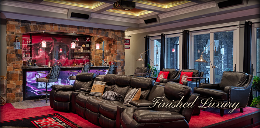 Custom Theater and Basement Bar