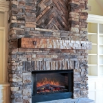 craftsman style homes great room fireplace mantle