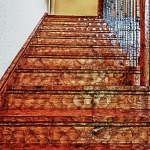 custom built homes stairway